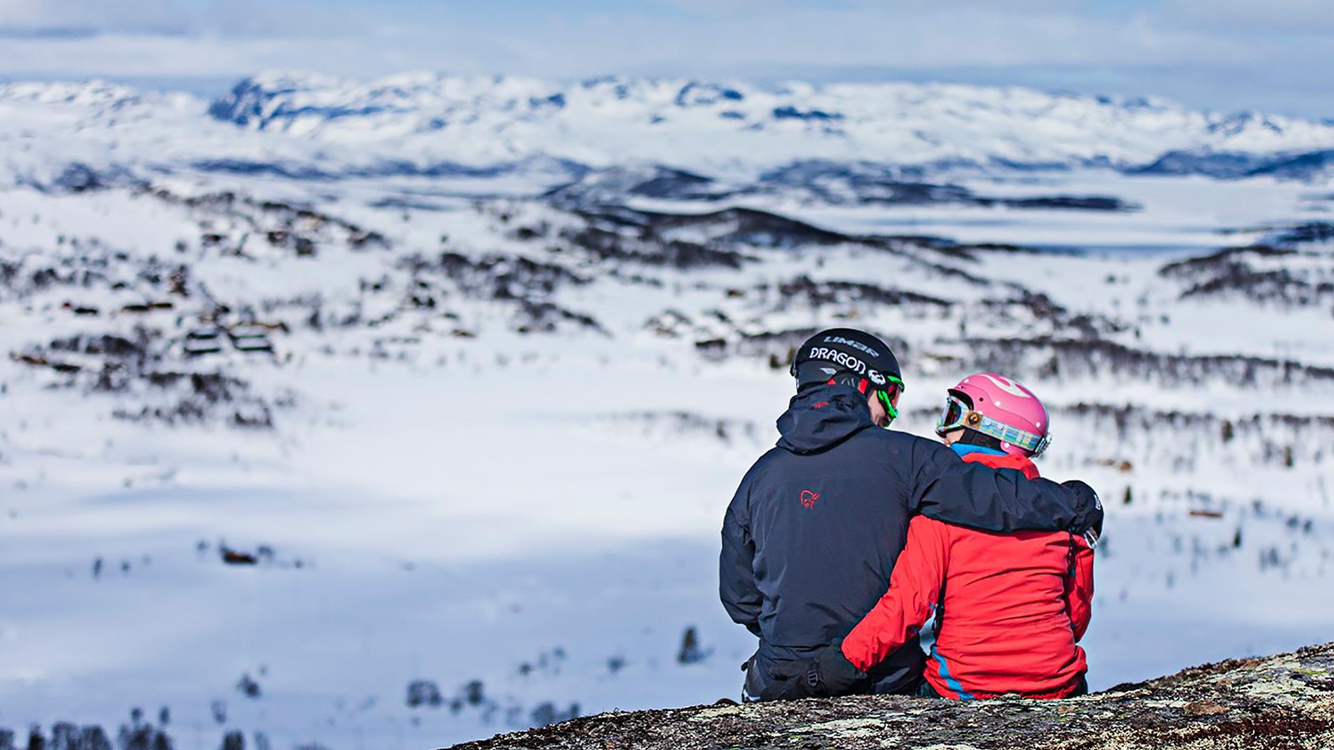 Kjærestepar i bakken, Rauland Skisenter