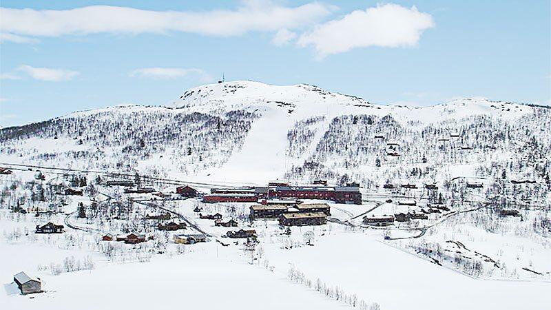 Luftfoto ved Rauland Høgfjellshotell / Farhovd